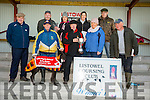 Eltham Magic winner of the Jackie Hegarty Memorial Duffer Cup at the Listowel Coursing on Sunday owner Eileen and Sean Flaherty