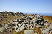 The summit of Mount Moosilauke in the New Hampshire White Mountains town of Benton, New Hampshire during the summer months. The scenic Appalachian Trail travels over this mountain.