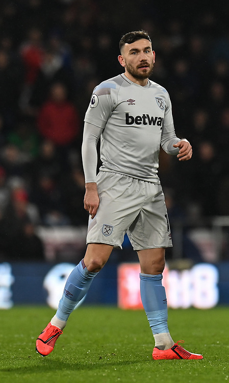 West Ham United's Robert Snodgrass<br /> <br /> Photographer David Horton/CameraSport<br /> <br /> The Premier League - Bournemouth v West Ham United - Saturday 19 January 2019 - Vitality Stadium - Bournemouth<br /> <br /> World Copyright &copy; 2019 CameraSport. All rights reserved. 43 Linden Ave. Countesthorpe. Leicester. England. LE8 5PG - Tel: +44 (0) 116 277 4147 - admin@camerasport.com - www.camerasport.com