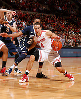 Ohio State Buckeyes guard Aaron Craft (4) trys to get around Penn State Nittany Lions guard Tim Frazier (23) in the second half at Value City Arena in Columbus Jan. 29, 2013 (Dispatch photo by Eric Albrecht)