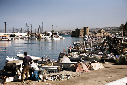 Le port de Saïda - Sidon's fishing harbour.