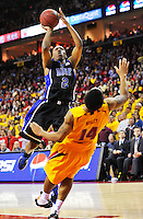 Nolan Smith of the Blue Devils is called for an offensive foul. Maryland defeated Duke 79-72 at the Comcast Center in College Park, MD on Wednesday, March 3, 2010. Alan P. Santos/DC Sports Box