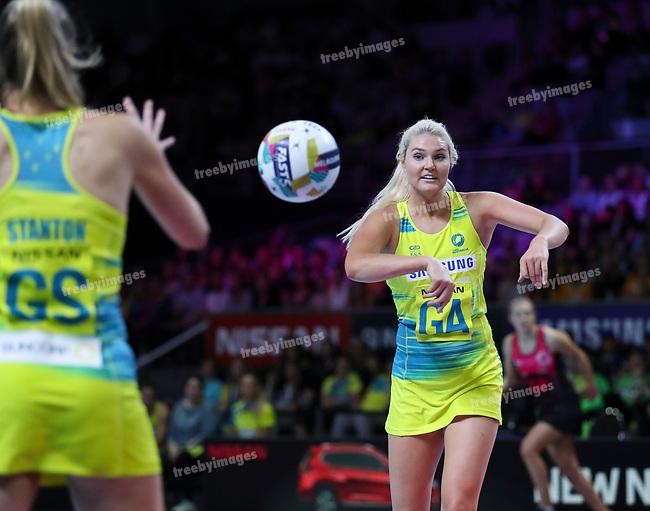 29/10/17 Fast5 2017<br /> Fast 5 Netball World Series<br /> Hisense Arena Melbourne<br /> Australia v New Zealand<br /> <br /> Gretel Tippett<br /> <br /> <br /> <br /> <br /> Photo: Grant Treeby