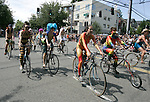 Painted nude bicyclists  ride during the 25th  Annual Fremont Summer Solstice Parade in Seattle on June 22, 2013.    UPI Photo/Jim BryantPainted nude bicyclists  ride during the 25th  Annual Fremont Summer Solstice Parade in Seattle on June 22, 2013.     ©2013.  Jim Bryant.  ALL RIGHTS RESERVED.