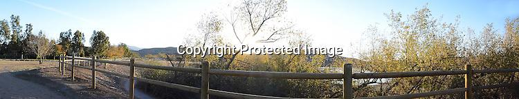 Panoramic stock photo of an Orange County California Park