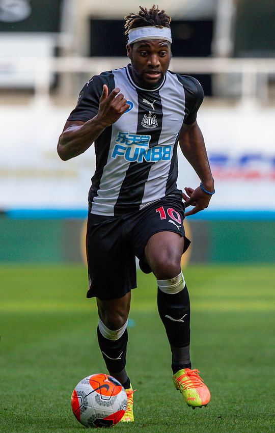 Newcastle United's Allan Saint-Maximin<br /> <br /> Photographer Alex Dodd/CameraSport<br /> <br /> The Premier League - Newcastle United v Aston Villa - Wednesday 24th June 2020 - St James' Park - Newcastle <br /> <br /> World Copyright © 2020 CameraSport. All rights reserved. 43 Linden Ave. Countesthorpe. Leicester. England. LE8 5PG - Tel: +44 (0) 116 277 4147 - admin@camerasport.com - www.camerasport.com