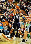 16 January 2012: University of Maine Black Bears' guard Gerald McLemore, a Senior from San Diego, CA, in action against the University of Vermont Catamounts at Patrick Gymnasium in Burlington, Vermont. The Catamounts defeated the Black Bears 79-65. Mandatory Credit: Ed Wolfstein Photo