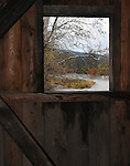 at Hamden Covered Bridge, (1859, restored 2002) that carries Basin Clove Road, over the West Branch of Delaware River, in Hamden, NY, on Thursday, October 23, 2014. Photo by Jim Peppler. Copyright Jim Peppler 2014.