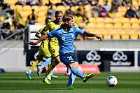 Luke Brattan of Sydney FC during the A League - Wellington Phoenix v Sydney FC at Sky Stadium, Wellington, New Zealand on Saturday 21 December 2019. <br /> Photo by Masanori Udagawa. <br /> www.photowellington.photoshelter.com
