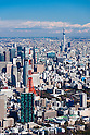 Aerial View of Tokyo taken on February 9th, 2012. Tokyo Tower and Tokyo Sky Tree are located in the central Tokyo, Japan.  (Photo by Masanori Yamanashi/AFLO)