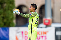 Boston, MA - Sunday September 10, 2017: Adrianna Franch during a regular season National Women's Soccer League (NWSL) match between the Boston Breakers and Portland Thorns FC at Jordan Field.