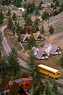 Wasco, Oregon, January 1984:  Rajneeshpuram, was an intentional community in Wasco County, Oregon, briefly incorporated as a city in the 1980s, which was populated with followers of the spiritual teacher Osho, then known as Bhagwan Shree Rajneesh. The community was developed by turning a ranch from an empty rural property into a city complete with typical urban infrastructure, with population of about 7000 followers.