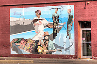 Mural in Historic downtown Edwardsville Illinois on Route 66.