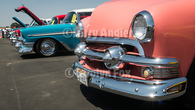 Rotary Club of Ione's first Show and Shine Aircraft and Car show at the Eagles Next airpark, Carbondale, Calif.<br /> <br /> 1951 Ford Victoria