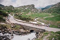 dramatic landscapes of the Cormet de Roselend (1977m)<br /> <br /> Stage 6: Frontenex > La Rosière Espace San Bernardo (110km)<br /> 70th Critérium du Dauphiné 2018 (2.UWT)