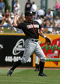 August 24, 2003:  Gera Alvarez of the Delmarva Shorebirds, Class-A affiliate of the Baltimore Orioles, during a South Atlantic League game at Classic Park in Eastlake, OH.  Photo by:  Mike Janes/Four Seam Images