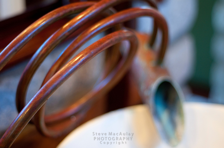 Close-up of custom copper faucets, Morgan's Rock Hacienda and Eco Lodge, Nicaragua