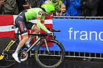 Simon Clarke (AUS) Cannondale Drapac in action during Stage 1, a 14km individual time trial around Dusseldorf, of the 104th edition of the Tour de France 2017, Dusseldorf, Germany. 1st July 2017.<br /> Picture: Eoin Clarke | Cyclefile<br /> <br /> <br /> All photos usage must carry mandatory copyright credit (&copy; Cyclefile | Eoin Clarke)