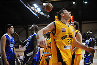Action from the national basketball league match between Wellington Saints and Taranaki Mountainairs at TSB Bank Arena, Wellington, New Zealand on Friday, 17 June 2014. Photo: Dave Lintott / lintottphoto.co.nz