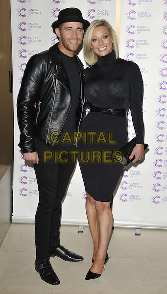 LONDON, ENGLAND - APRIL 09: Jay James &amp; Victoria James attend the James Ingham's Jog-On to Cancer party to raise funds for Cancer Research UK, Kensington Roof Gardens, Kensington High St., on Thursday April 09, 2015 in London, England, UK. <br /> CAP/CAN<br /> &copy;CAN/Capital Pictures