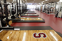 12 August 2002: The weight room facility in the Arrillaga Family Sports Center in Stanford, CA.