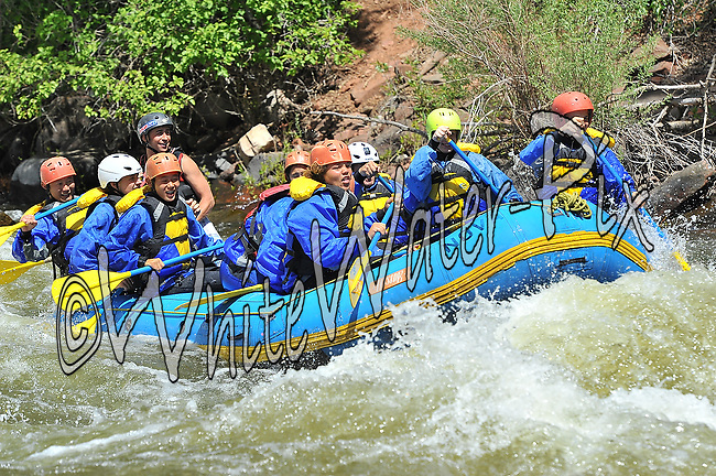 Nova Guides crashing Interstate, Dead Cow and Rodeo Rapids while running the Lower Eagle River, June 18, 2013, Afternoon Trip, PM, Eagle, Colorado - WhiteWater-Pix   River Adventure Photography - by MADOGRAPHER Doug Mayhew