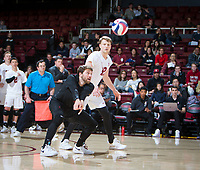 STANFORD, CA - January 5, 2019: Kyle Dagostino at Maples Pavilion. The Stanford Cardinal defeated UC Santa Cruz 25-11, 25-17, 25-15.