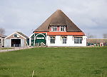 Thatched farmhouse, Texel, Netherlands,