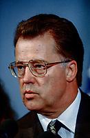 Washington DC., USA, June 27, 1996<br /> Latvian President Guntis Ulmanis during a press conference at the National Press club in Washington DC., Credit: Mark Reinstein/MediaPunch
