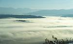 Fog covering the Kootenai Valley in North Idaho