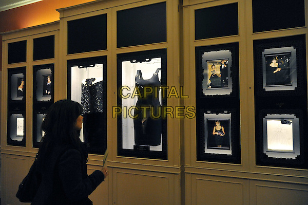 A major new exhibition, unveiled as part of the £12 million transformation of Kensington Palace explores the life and reign of Queen Victoria, and also includes Diana: Glimpses of a modern princess opens, a small display of iconic dresses worn by the late Diana, Princess of Wales, some of which are being shown in the UK for the first time. Highlights include a black silk taffeta gown by Emanuel, worn on her first official engagement with the Prince of Wales, and a black ribbed silk shift evening dress by Gianni Versace, worn to the London premiere of Apollo 13.  Kensington Palace, London, UK...CAP/BF.©Bob Fidgeon/Capital Pictures.