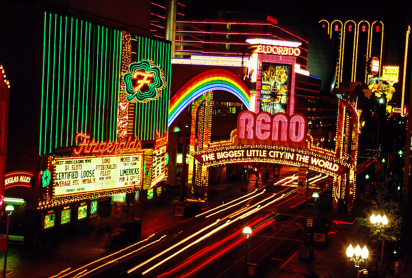 Neon, signs, Downtown Reno, Nevada USA