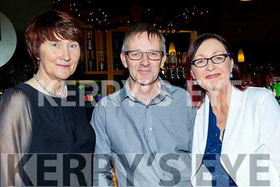 L-R Mary Savage with Jim&Marian Crowley enjoying the Ardfert Golf Club Society annual dinner at the Ballyroe heights hotel, Tralee last Saturday night.