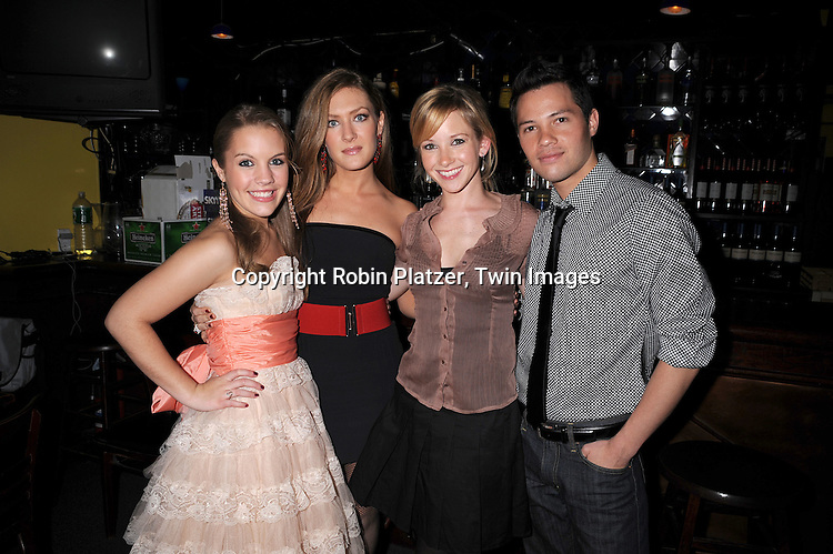 """Kristen Alderson, BethAnn Bonner, Justis Bolding and Jason Tam of One Life To Live..at The """"Kathy Brier and Friends"""" concert at The Metropolitan Room in New York City benefitting the Eos ..Theatre Company on May 16, 2008.....Robin Platzer, Twin Images"""