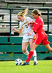 14 October 2010: University of Vermont Catamount forward Ellie Mills, a Freshman from Arlington, VA, in action against the University of Hartford Hawks at Centennial Field in Burlington, Vermont. The Hawks defeated the Lady Cats 6-2 in America East play. Mandatory Credit: Ed Wolfstein Photo