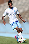02 September 2013: North Carolina's Jordan McCrary. The University of North Carolina Tar Heels hosted the Coastal Carolina University Chanticleers at Fetzer Field in Chapel Hill, NC in a 2013 NCAA Division I Men's Soccer match. UNC won the game 4-0.