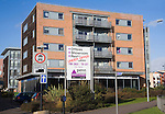 Commercial property advertising sign for modern buildings Under Offer, Ipswich, Suffolk, England