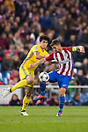 Gabi of Atletico de Madrid fights for the ball with Sardar Azmoun of FC Rostov during their 2016-17 UEFA Champions League match between Atletico Madrid and FC Rostov at the Vicente Calderon Stadium on 01 November 2016 in Madrid, Spain. Photo by Diego Gonzalez Souto / Power Sport Images