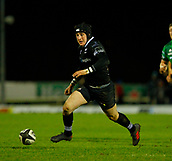 9th February 2018, Galway Sportsground, Galway, Ireland; Guinness Pro14 rugby, Connacht versus Ospreys; Sam Davies chases down the ball for Ospreys