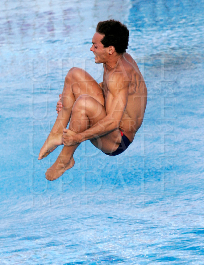 Spain's Carlos Calvo competes in the men's 1m springboard diving finals at the Swimming World Championships in Rome, 17 July 2009..UPDATE IMAGES PRESS/Riccardo De Luca