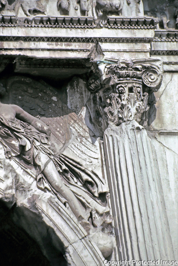 Detail of Arch of Titus, Rome Italy, 90 CE