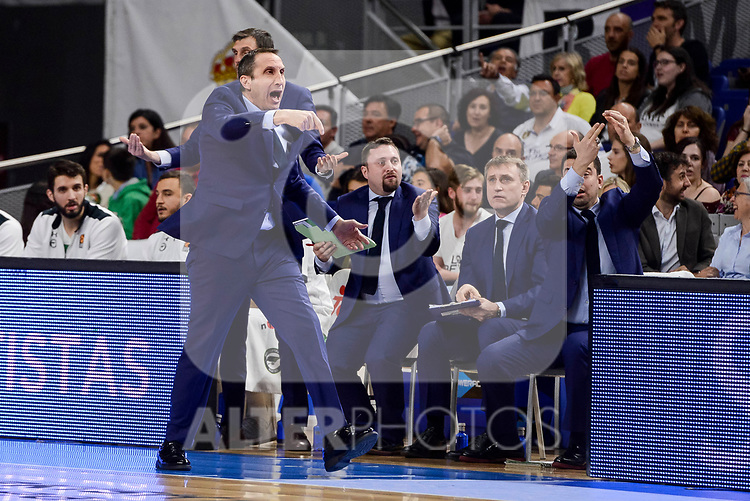 Darussafaka Dogus's coach David Blatt during quarter final of Turkish Airlines Euroleague match between Real Madrid and Darussafaka Dogus at Wizink Center in Madrid, April 20, 2017. Spain.<br /> (ALTERPHOTOS/BorjaB.Hojas)