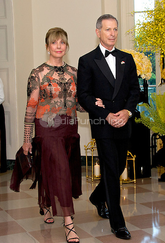 Steven Green, Chief Executive Officer, Greenstreet Real Estate Partners, and Dorothea Green arrive for the State Dinner honoring Prime Minister Lee Hsien Loong of the Republic of Singapore at the White House in Washington, DC on Tuesday, August 2, 2016.<br /> Credit: Ron Sachs / Pool via CNP/MediaPunch