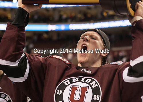 Nick Cruice (Union - 8) - The Union College Dutchmen defeated the University of Minnesota Golden Gophers 7-4 to win the 2014 NCAA D1 men's national championship on Saturday, April 12, 2014, at the Wells Fargo Center in Philadelphia, Pennsylvania.