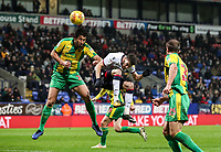 Bolton Wanderers' Will Buckley heads at goal<br /> <br /> Photographer Andrew Kearns/CameraSport<br /> <br /> The EFL Sky Bet Championship - Bolton Wanderers v West Bromwich Albion - Monday 21st January 2019 - University of Bolton Stadium - Bolton<br /> <br /> World Copyright © 2019 CameraSport. All rights reserved. 43 Linden Ave. Countesthorpe. Leicester. England. LE8 5PG - Tel: +44 (0) 116 277 4147 - admin@camerasport.com - www.camerasport.com