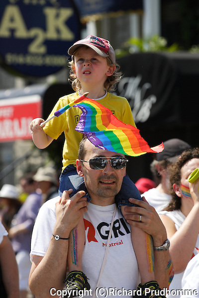 People of all ages participate in the Pride Parade in Montreal