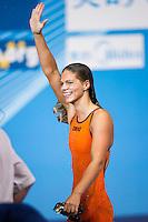 Yuliya Efimova RUS gold medal and new world record <br /> Women's 50m breaststroke final<br /> Swimming<br /> 15th FINA World Aquatics Championships<br /> Palau Sant Jordi, Barcelona (Spain) 04/08/2013 <br /> © Giorgio Perottino / Deepbluemedia.eu / Insidefoto