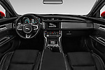 Stock photo of straight dashboard view of 2017 Jaguar XF 35t-R-Sport 4 Door Sedan Dashboard