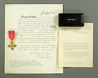 BNPS.co.uk (01202 558833)<br /> Pic: MitchellsAuctionHouse/BNPS<br /> <br /> PICTURED: Colonel Vassal Charles Steer-Webster's OBE forms part of the archive<br /> <br /> The fascinating archive of one of the engineers who designed the Mulberry Harbours which were installed off the Normandy coast following the D-Day landings has come to light.<br /> <br /> Colonel Vassal Charles Steer-Webster OBE helped create the giant, floating artificial harbours which protected anchored supply ships from German attacks.<br /> <br /> They were built in the dry docks on The Thames and Clyde and pulled across the channel by tugs before being hastily assembled.<br /> <br /> Col Steer-Webster was in almost daily contact with Churchill during their development ahead of June 6, 1944. Now, his personal effects, including a letter of thanks from Winston Churchill, are being sold by his nephew with Mitchells Auctioneers, of Cockermouth, Cumbria. <br /> <br /> The archive, which is expected to fetch £15,000, also features 150 photos showing Mulberry B's construction and use, as well as his medals.