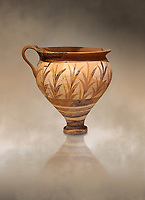 Minoan decorated cup with foliage, Archanes Palace  1600-1450 BC; Heraklion Archaeological  Museum.